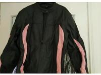Ladies leather motorbike jacket.