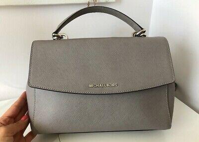 Michael Kors real leather AVA grey satchel top-handle bag
