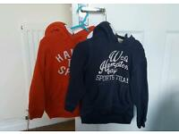 2 x boys hoodies