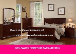 8 PIECE QUEEN BEDROOM SET..$899 ONLY