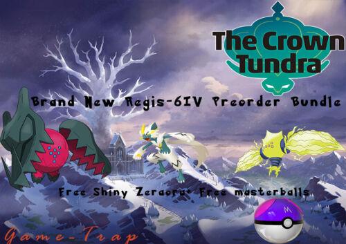 Pokemon Sword/Shield/Home Crown Tundra-6IV REGIDRAGO/REGIELEKI