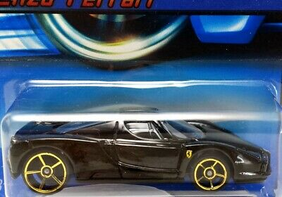 Hot Wheels 2006 Enzo Ferrari BLACK GOLD FTE Style OH5 Wheels W/PROTECTOR L👀K!