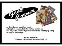 Geek Corner - Comics Old & New