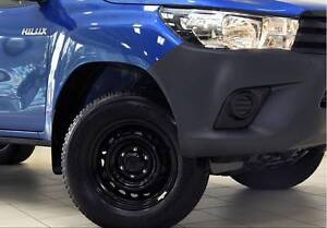 4x 17inch TOYOTA HILUX BLACK RIMS 265 65 17 99% TREAD 6Studs Georges Hall Bankstown Area Preview