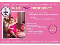 Half Price Smash Cake Photography Session or Autumn Mini Session. Photographer Bradford & Leeds