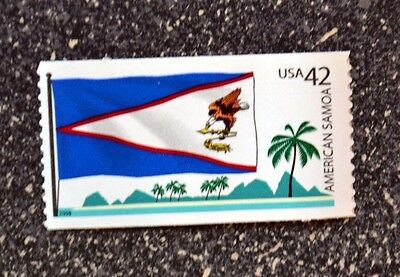 2008USA 4276 42C AMERICAN SAMOA FLAG - FLAGS OF OUR NATION  MINT NH  PALM TREE