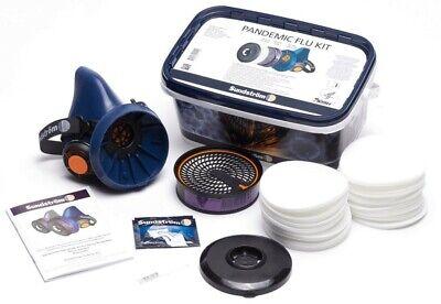 Sundström Premium Atemschutz Set mit SR 100 Halbmaske, Partikelfilter und Gasfil