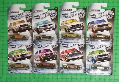 2018 Hot Wheels - Walmart Exclusive-  Zamac Flames - Complete Set of 8