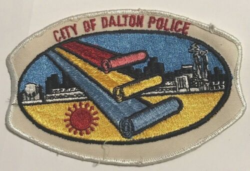 "vintage ""CITY OF DALTON POLICE"" PATCH ga GEORGIA LAW ENFORCEMENT OFFICER rare"