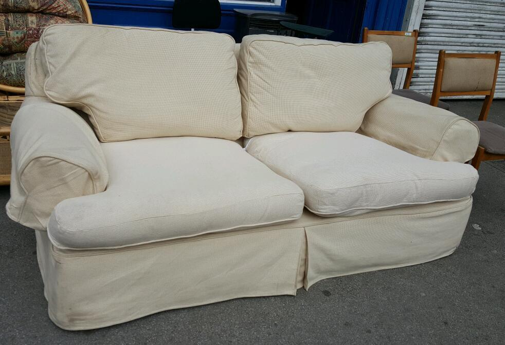 Cream Fabric Sofa Removable Covers