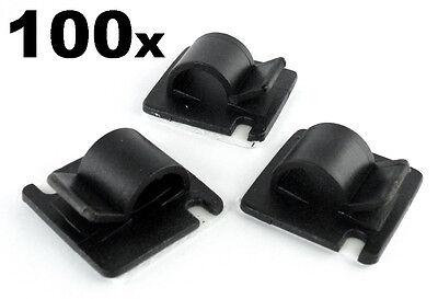 100x Grande Autoadhesivo Adhesivo Soportes para Organizar / Ruteo Telares Cable