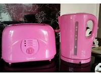 pink kettle & toaster