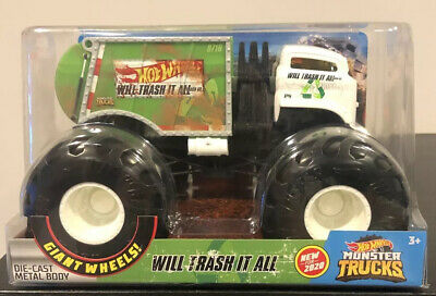 BNIB Hot Wheels Monster Trucks 1:24 Scale Assortment,Will Trash