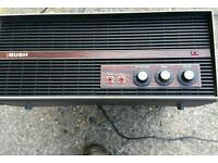 Vintage Retro Bush Portable mains powered Record Player model BSR