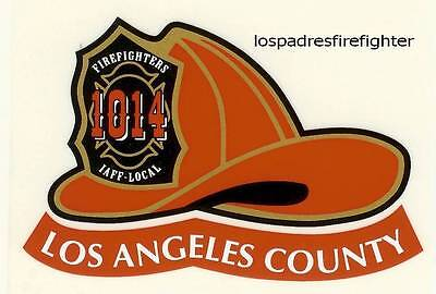 NEW 10 LOS ANGELES COUNTY FIRE HELMET STICKER DECAL NEW