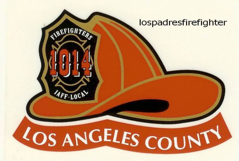 NEW 3 LOS ANGELES COUNTY FIRE HELMET STICKER DECAL NEW