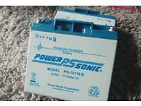 power ps sonic rechargeable batteries 12 volt 17.amp. x2