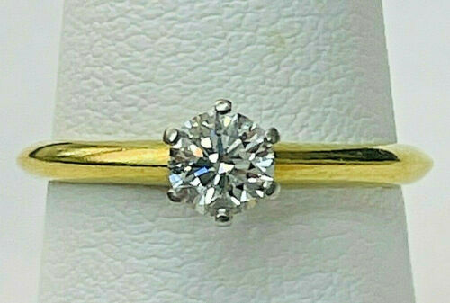 Tiffany & Co.18k Diamond Engagement Ring .40 solitaire by AITUZZI JEWELRY