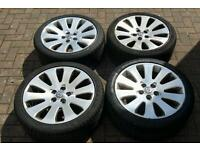 "GENUINE VAUXHALL INSIGNIA 19"" ALLOY WHEELS SUPERB TYRES 5X120 SRI ELITE VXR BMW 1 SERIES 3 SERIES"