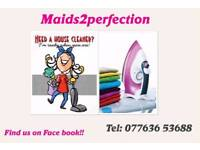 DOMESTIC CLEANER AVAILABLE NOW