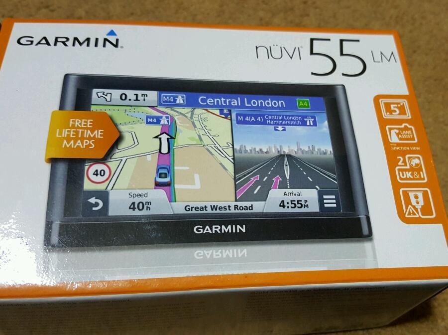 New Unused Garmin Nuvi LM With Free Lifetime Maps In - Free us map for garmin nuvi 55