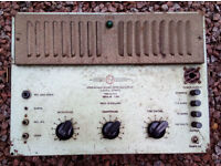 Birmingham Sound Reproducers PA 30 Valve Amplifier - Untested - Pair Of 6L6G