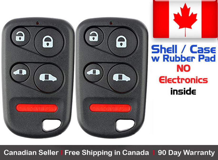 2x New Replacement Keyless Entry Remote Key Fob For Honda OUCG8D-440H-A Shell