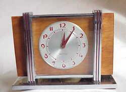 VERY Vintage Westclox Leland Wind Up Alarm Clock. NICE!!!