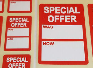 Bright-Red-Special-Offer-Was-Now-Price-Point-Stickers-Swing-Tag-Sticky-Labels