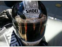 Shoei xs crash helmet phoenix graphic .