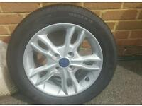 New Alloy Wheel and Tyre for 2014 Fiesta Ecoboost