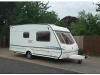 2003 abbey vogue 215 GTS 2 berth caravan with large rear dressing/ bathroom all accessories included