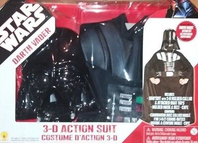 OFFICIAL STAR WARS DARTH VADER FANCY DRESS UP COSTUME 3-D ACTION SUIT RUBIES NEW