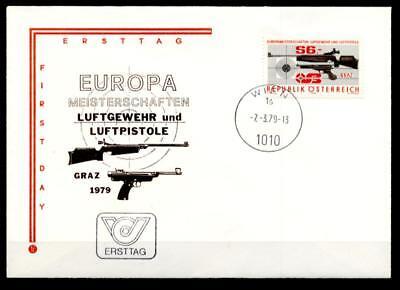 Luftgewehr- und Luftpistolenschießen, Graz. FDC. Österreich 1979