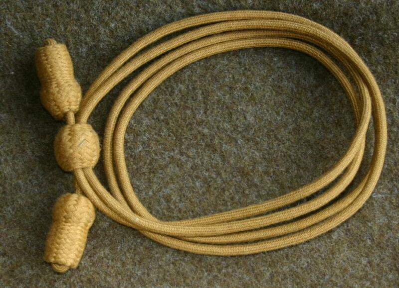 Cavalry Hat Cord for Campaign Hat, pre-WWII style