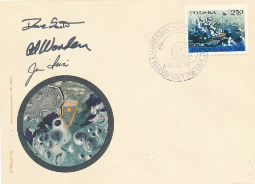 Apollo 15- Cover Signed by Scott, Irwin and Worden