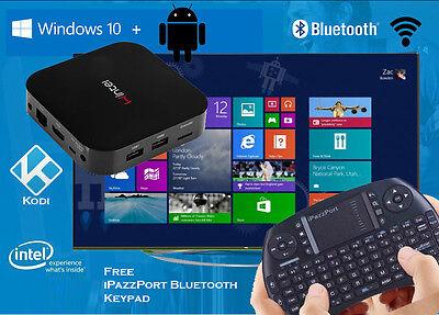 wintel Windows 10 & Android quadcore smart TV media player box 2/32g wifi  hdmi