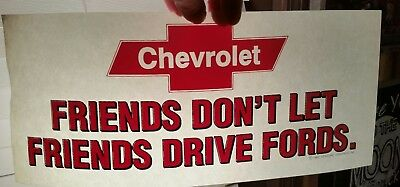 Retro Chevy Friends Dont Let Friends Drive Fords Heat Press Transfer Lot Of 2