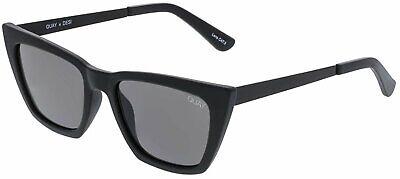 Quay Women's Don'T At Me QC-000305-BLK/SMK Black Cat Eye (Women's Black Cat Eye Sunglasses)