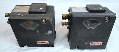 Lot Of 2 Bailey Av121000 Pneumatic Positioners