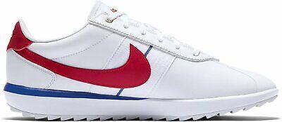 Nike Cortez G CI1670 100 Zapatos Mujer Calzado de Golf Zapatillas Blanco/Rojo