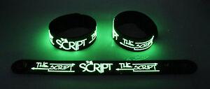 The Script NEW! Glow in the Dark Rubber Bracelet Wristband Superheroes gg203