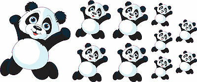 Panda Bear Decals Car Stickers Graphics Nursery Wall Window Decorations Art