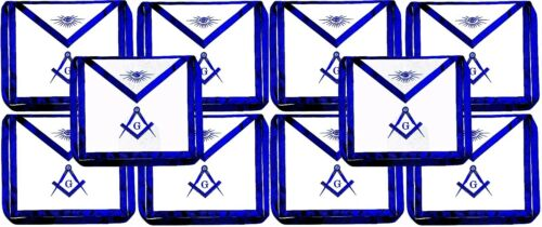 Masonic Square Compass Apron EMBROIDERED  Blue Lodge Fraternity DMA-1000BL 10PCS