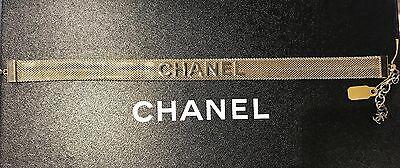 NWT CHANEL CC Logo RUNWAY Choker Necklace