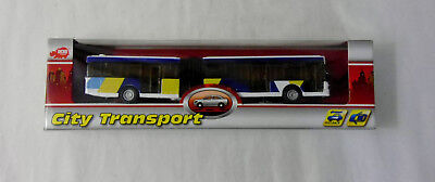 DICKIE TOYS CITY TRANSPORT ARTICULATED BUS HO SCALE 00623