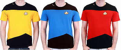 Star Trek The Next Generation Enterprise Crew Uniform T-Shirt Fasching Kostüm ()