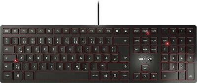 Cherry Schwarz Usb-tastatur (Tastatur Cherry KC6000 Slim Deutsch schwarz USB-Anschluss Sondertasten QWERTZ)