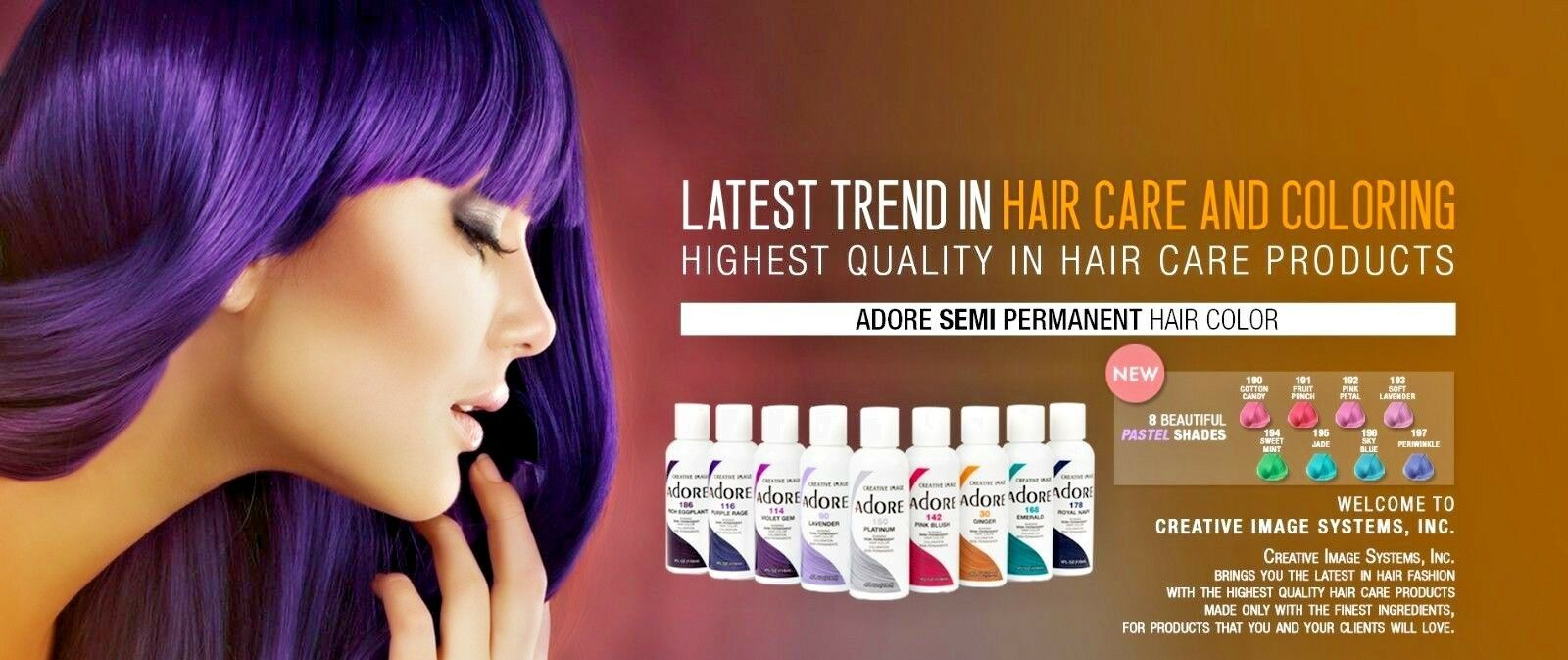 Adore Semi Permanent Hair Dye Color 118mL ***AUTHENTIC & FRE