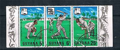 Guyana 1968 W.I.Cricket Tour SG 445/7 CTO